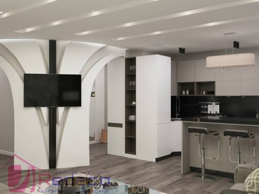 Reparație La Cheie  și Design Interior apartament 62 m2 în Chisinau