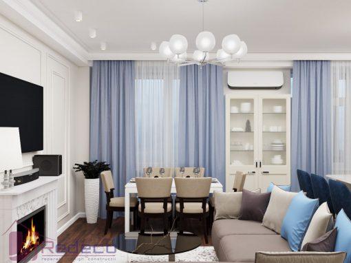 Design Interior in Chișinău Apartament in Stil Neoclasic 104 mp